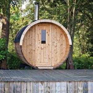 Sauna en hottub